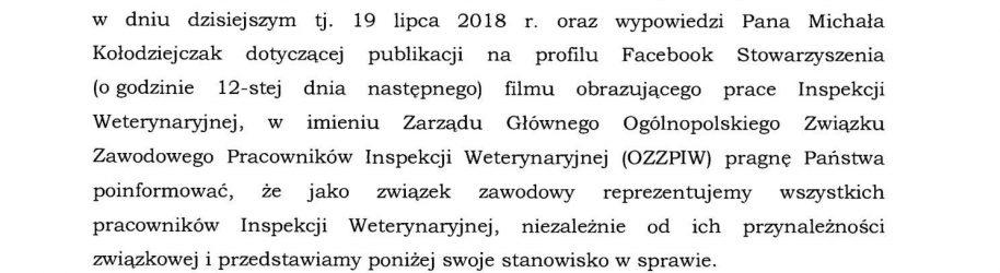 Stanowisko OZZPIW #2 wobec Unii Warzywno-Ziemniaczanej cd.