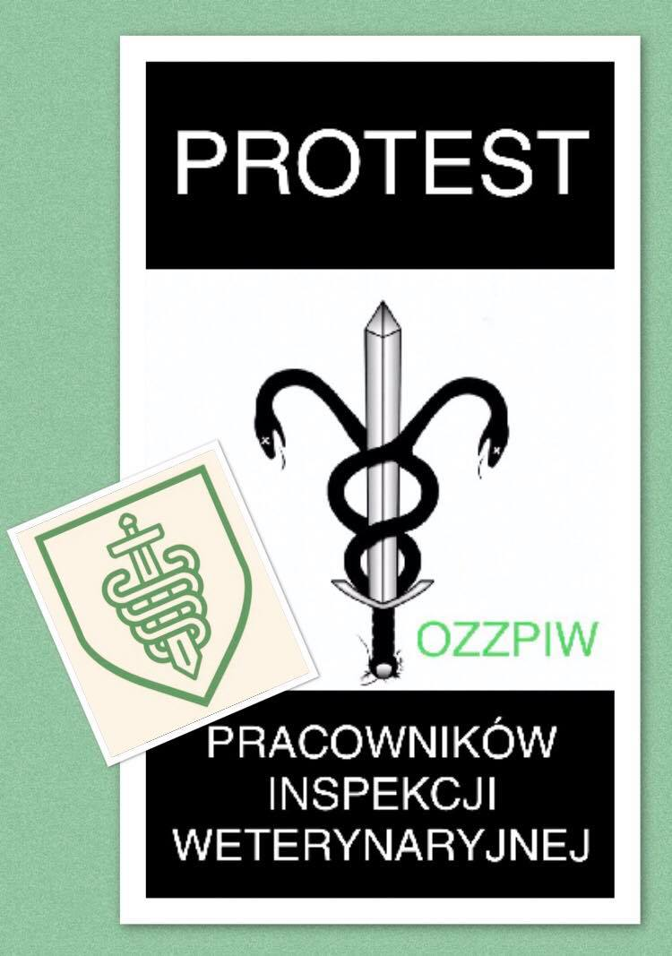 Protest Pracowników Inspekcji Weterynaryjnej Ozzpiw