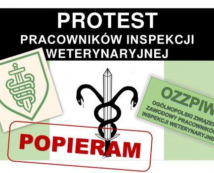 Protest Pracowników Inspekcji Weterynaryjnej – komunikat nr 7